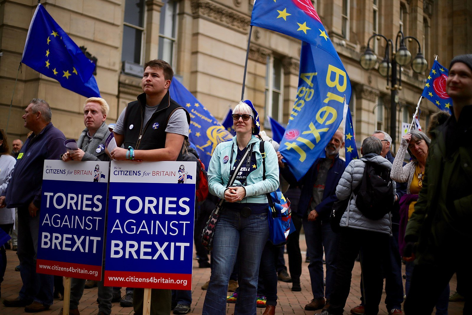 Birmingham's Bin-Brexit rally for the Conservative Party conference shows divided state Britain is in.