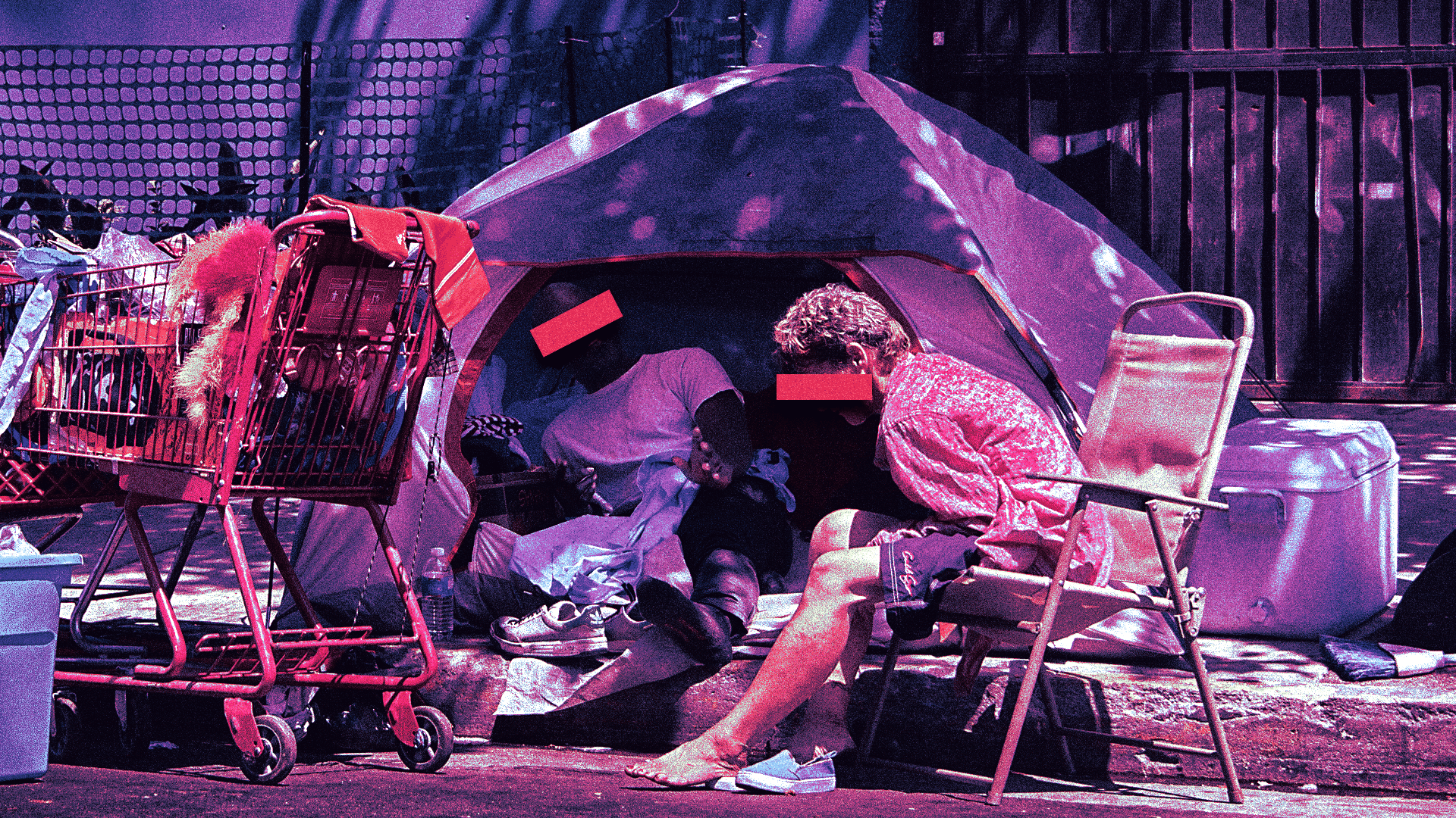 california homeless camp