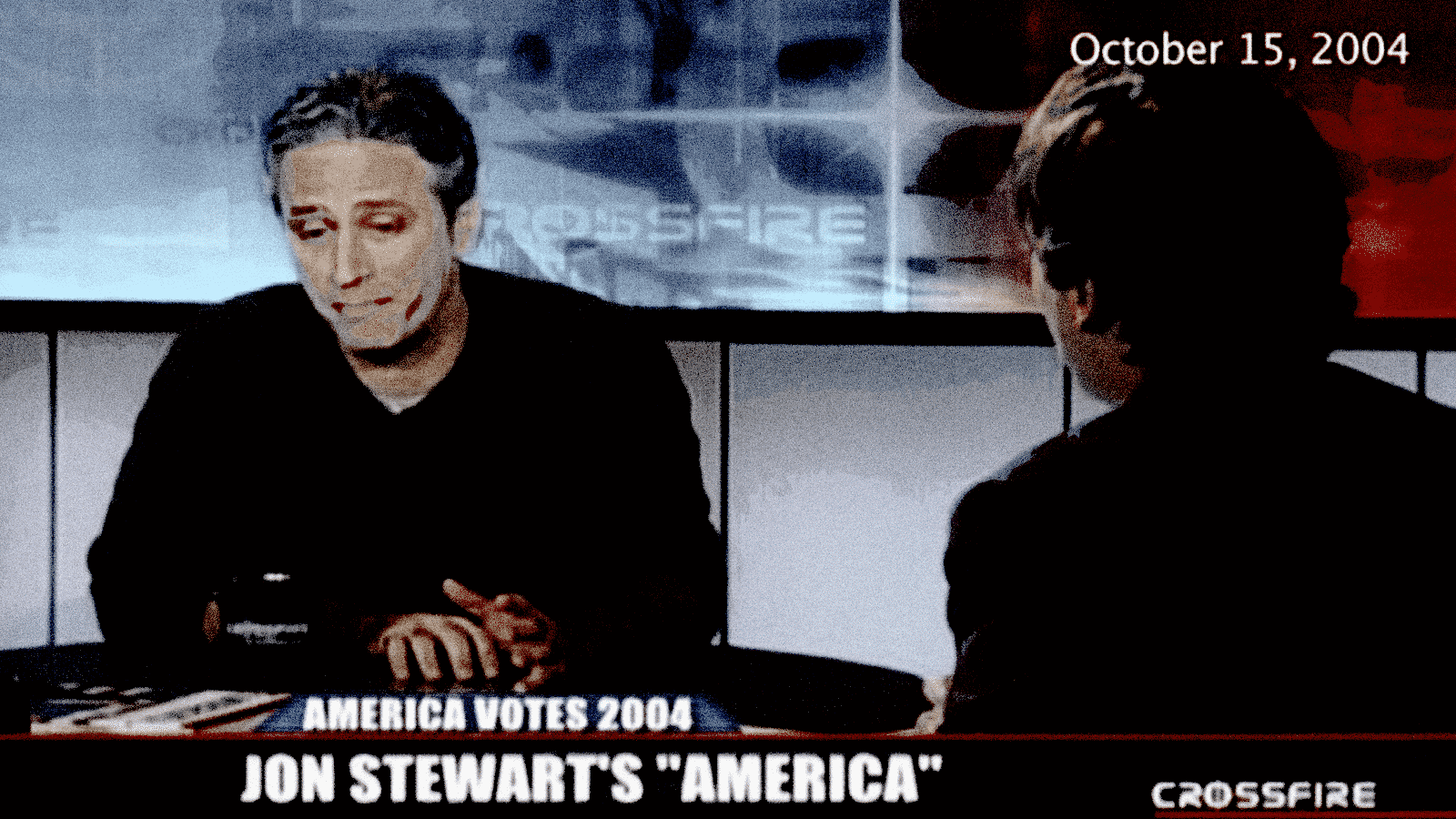 Jon Stewart on Crossfire with Tucker Carlson