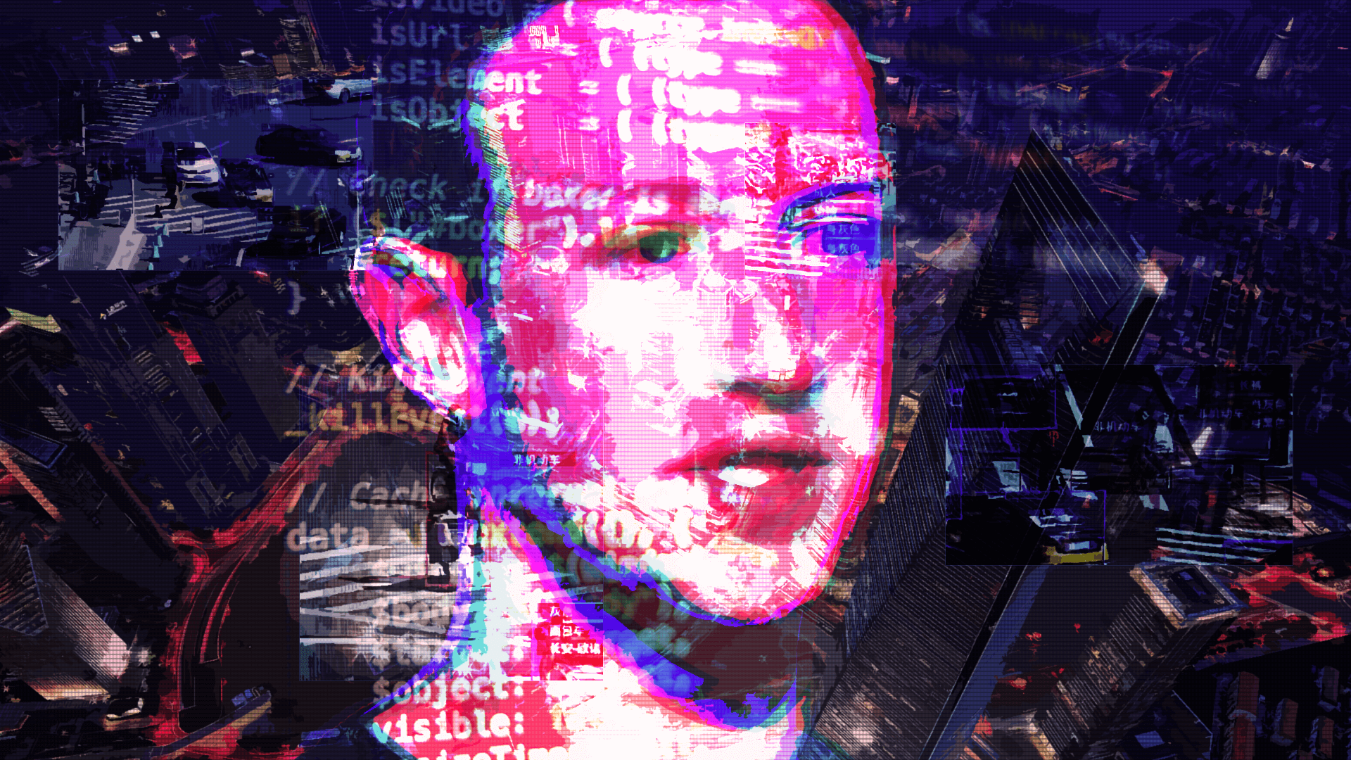 The Invisible Shackles of America's Social Credit System. (Pictured: Mark Zuckerberg over China)