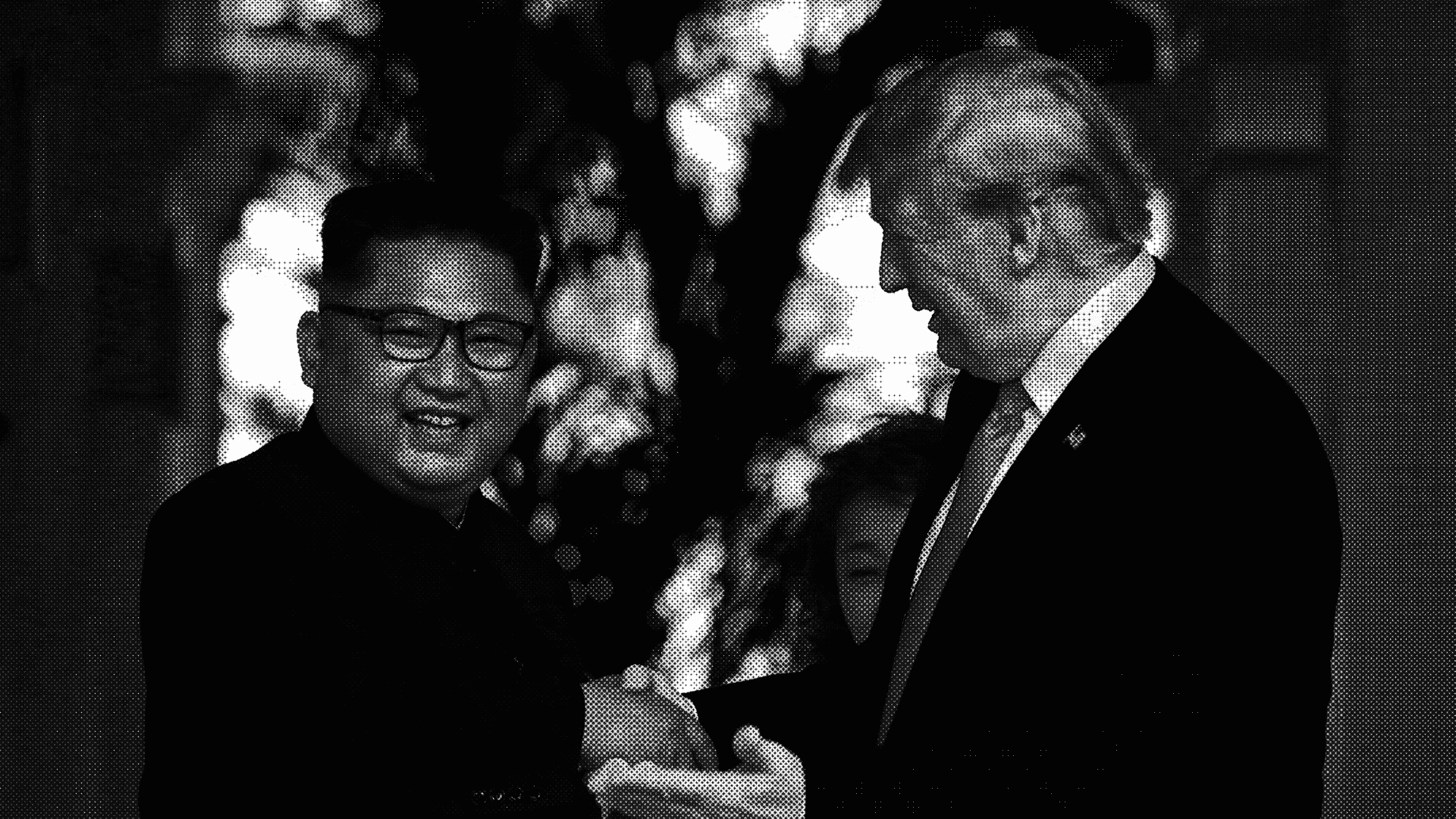 President Donald J. Trump meets with North Korea's Kim Jong Un.