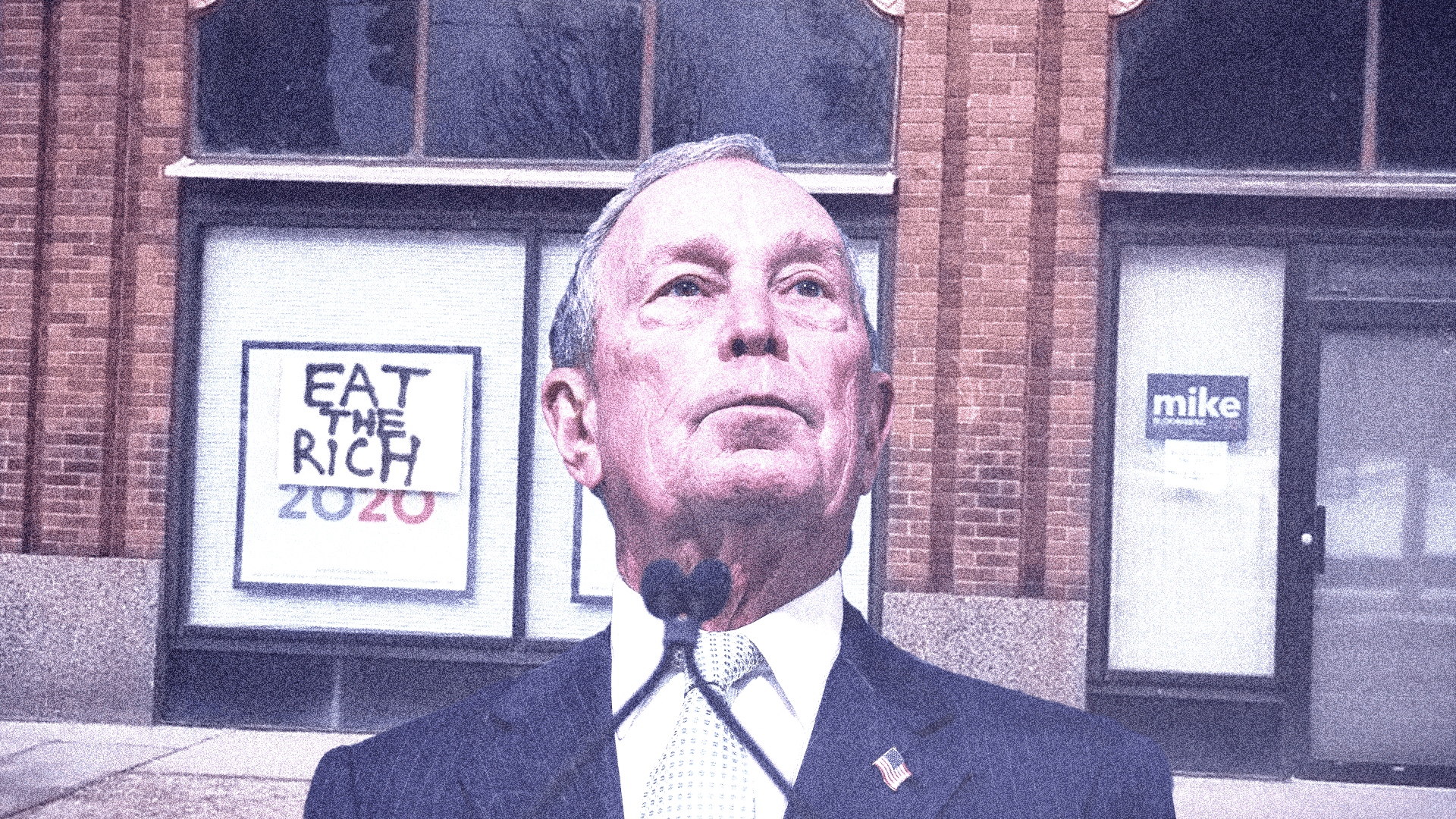 """Eat the rich."" Mike Bloomberg."