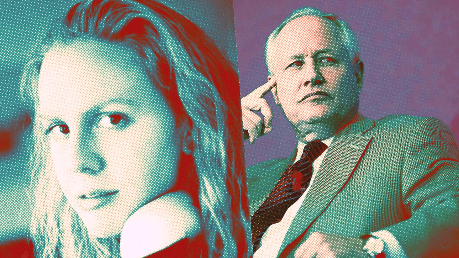 Molly Jong-Fast and Bill Kristol
