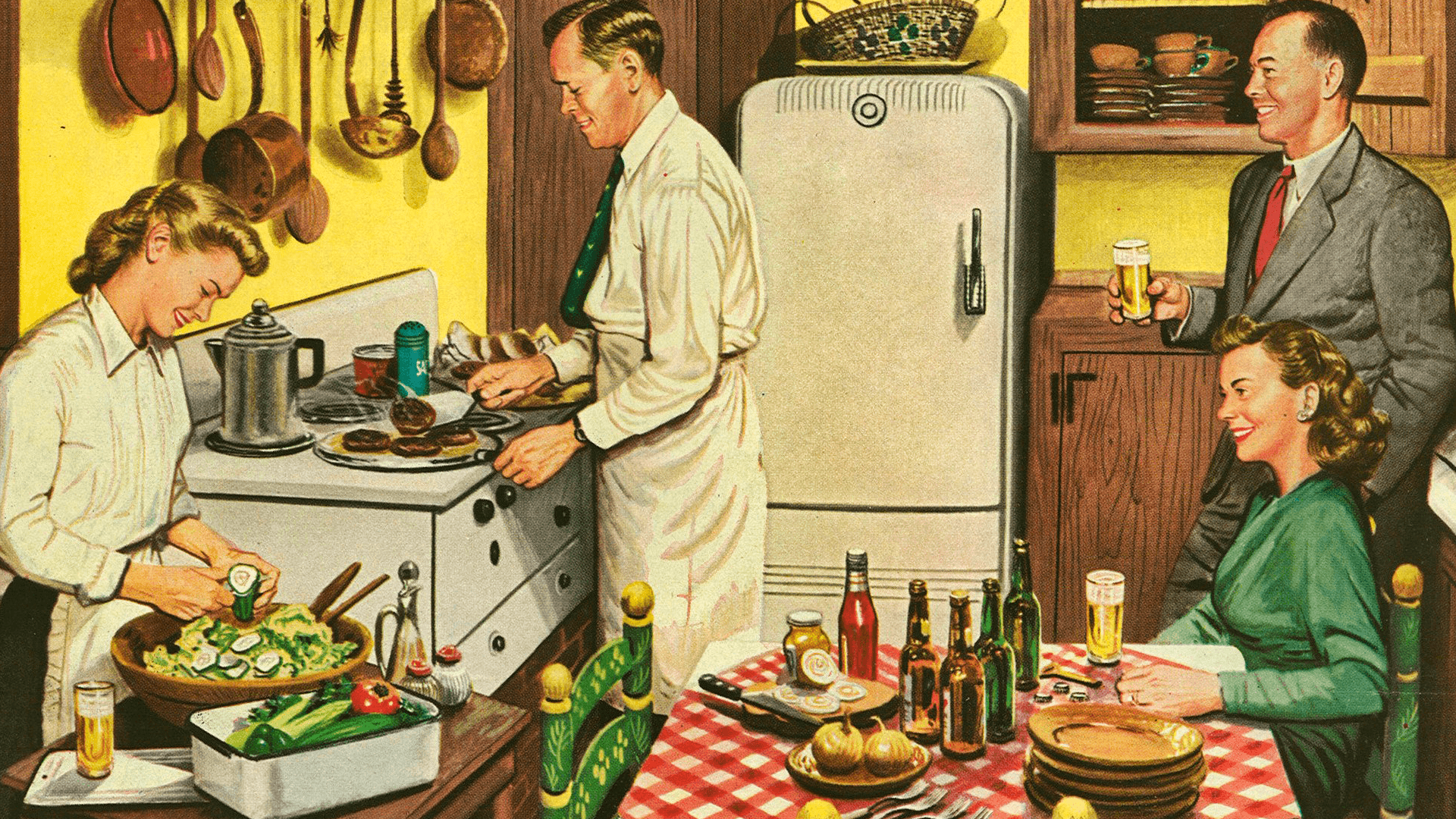 """A Snack after the Movies,"" by Douglass Crockwell, Home Life in America. / Traditional women / Tradwife"
