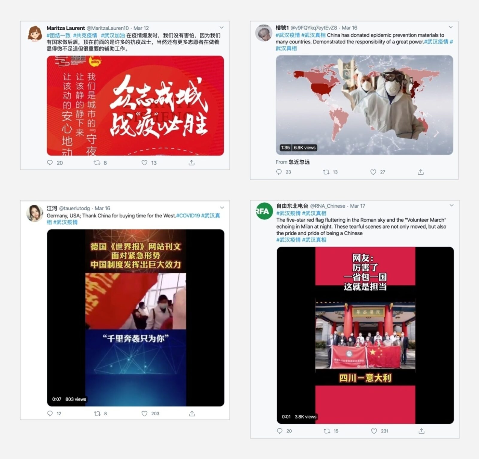 Chinese Twitter disinformation.