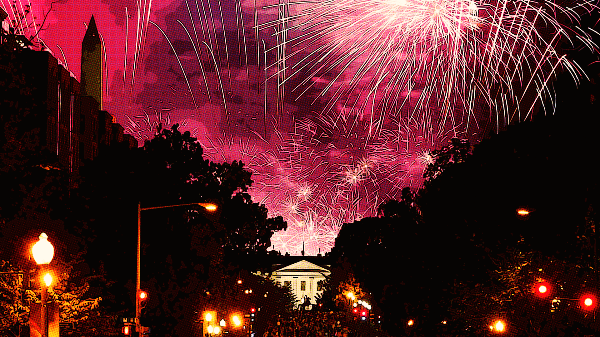 Fireworks at the Republican National Convention 2020 in Washington D.C.