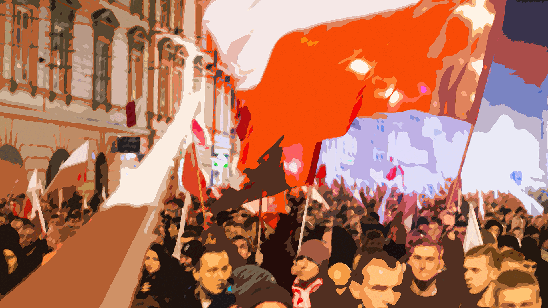 Polish election celebrations.