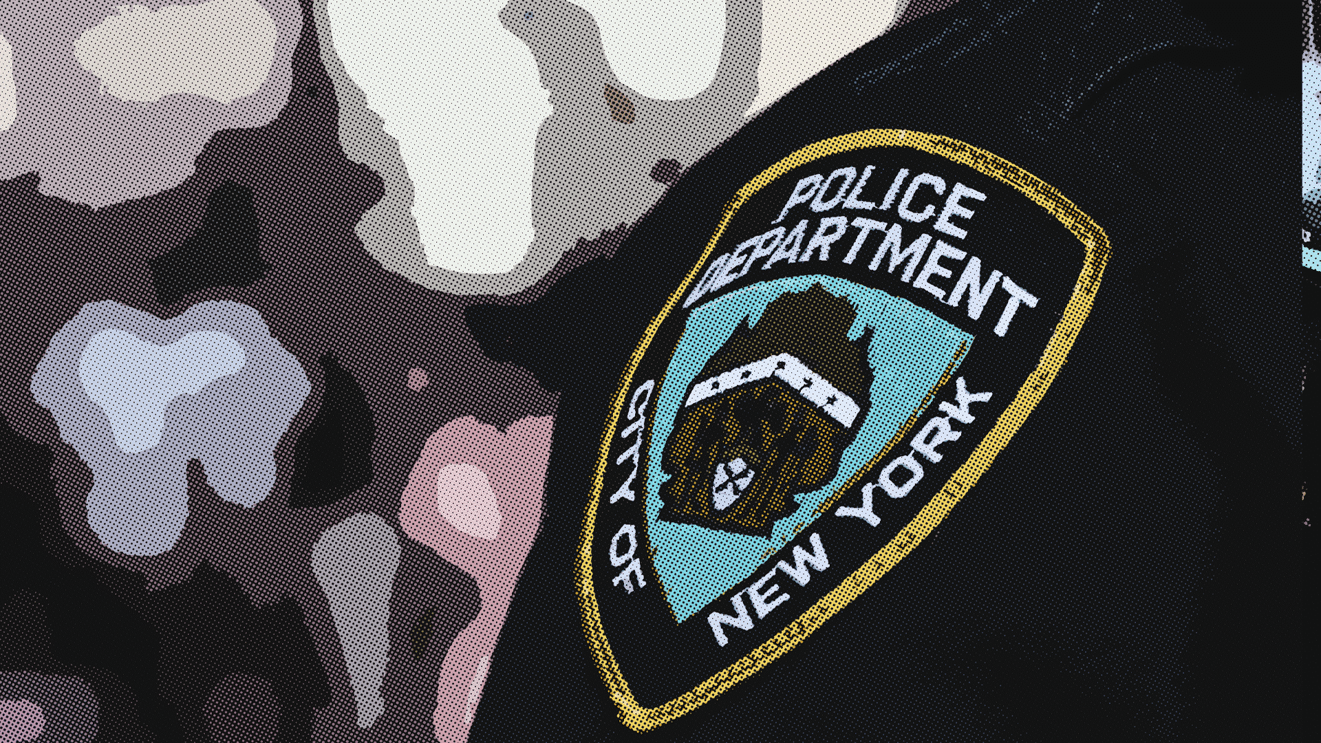 NYPD police emblem.