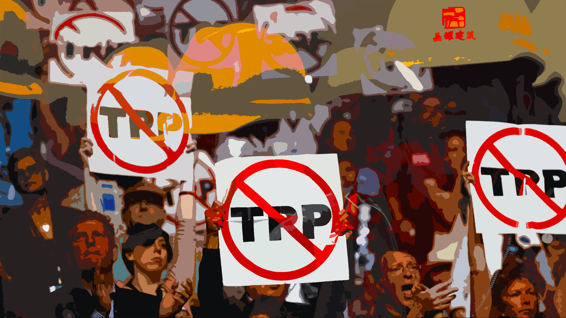 Trans Pacific Partnership protests.