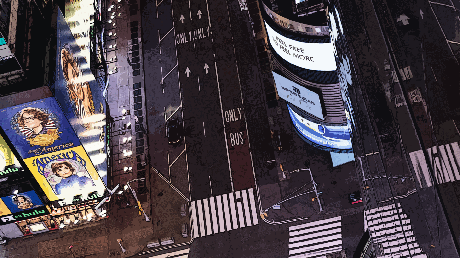 Times Square, New York, vide.