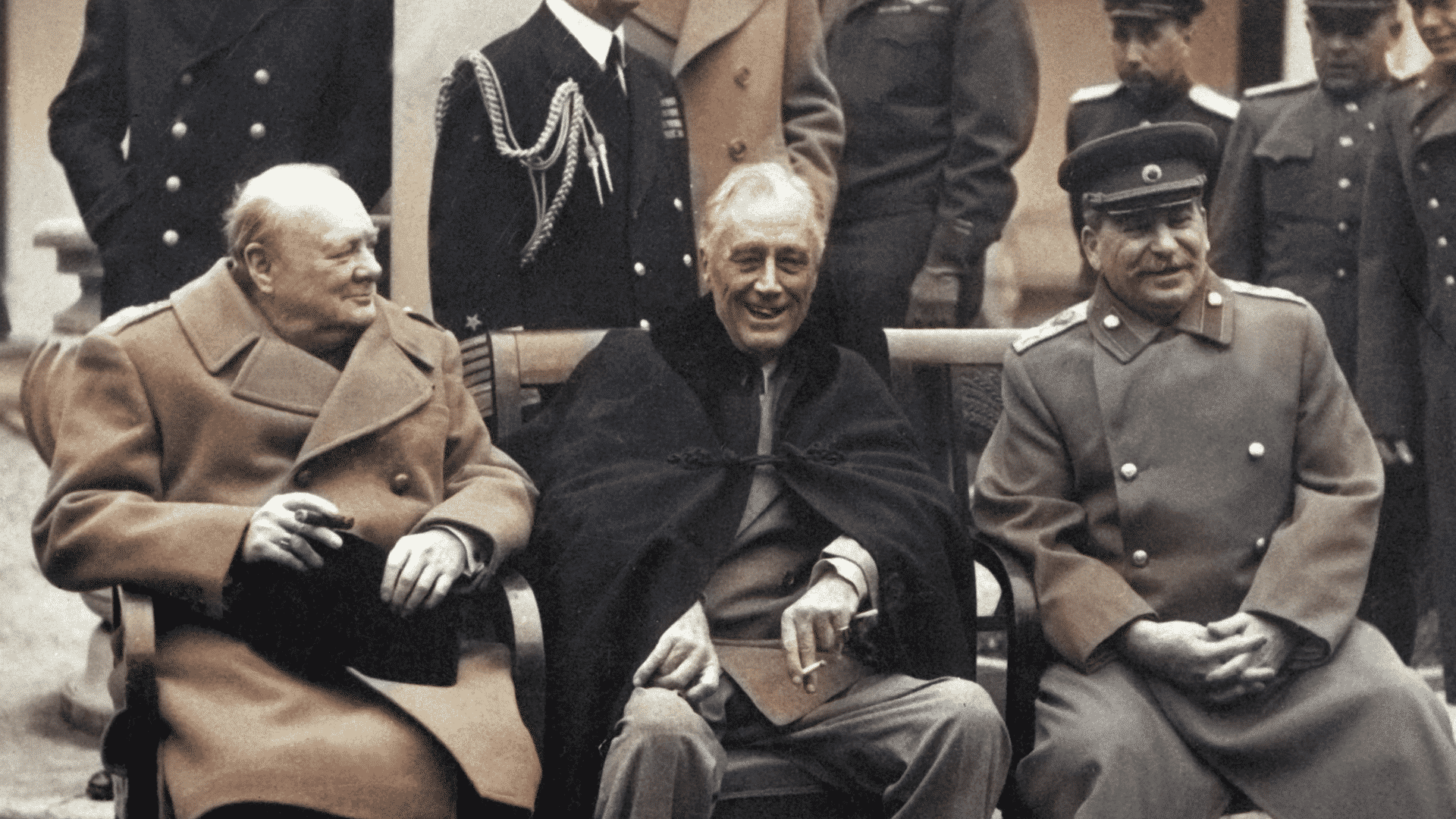 Winston Churchill at the Yalta Conference.