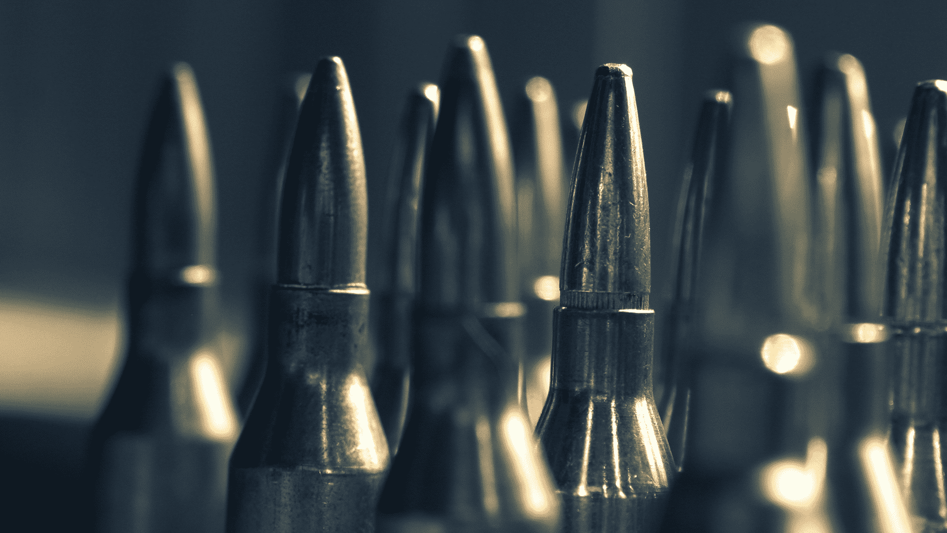 Rifle rounds.