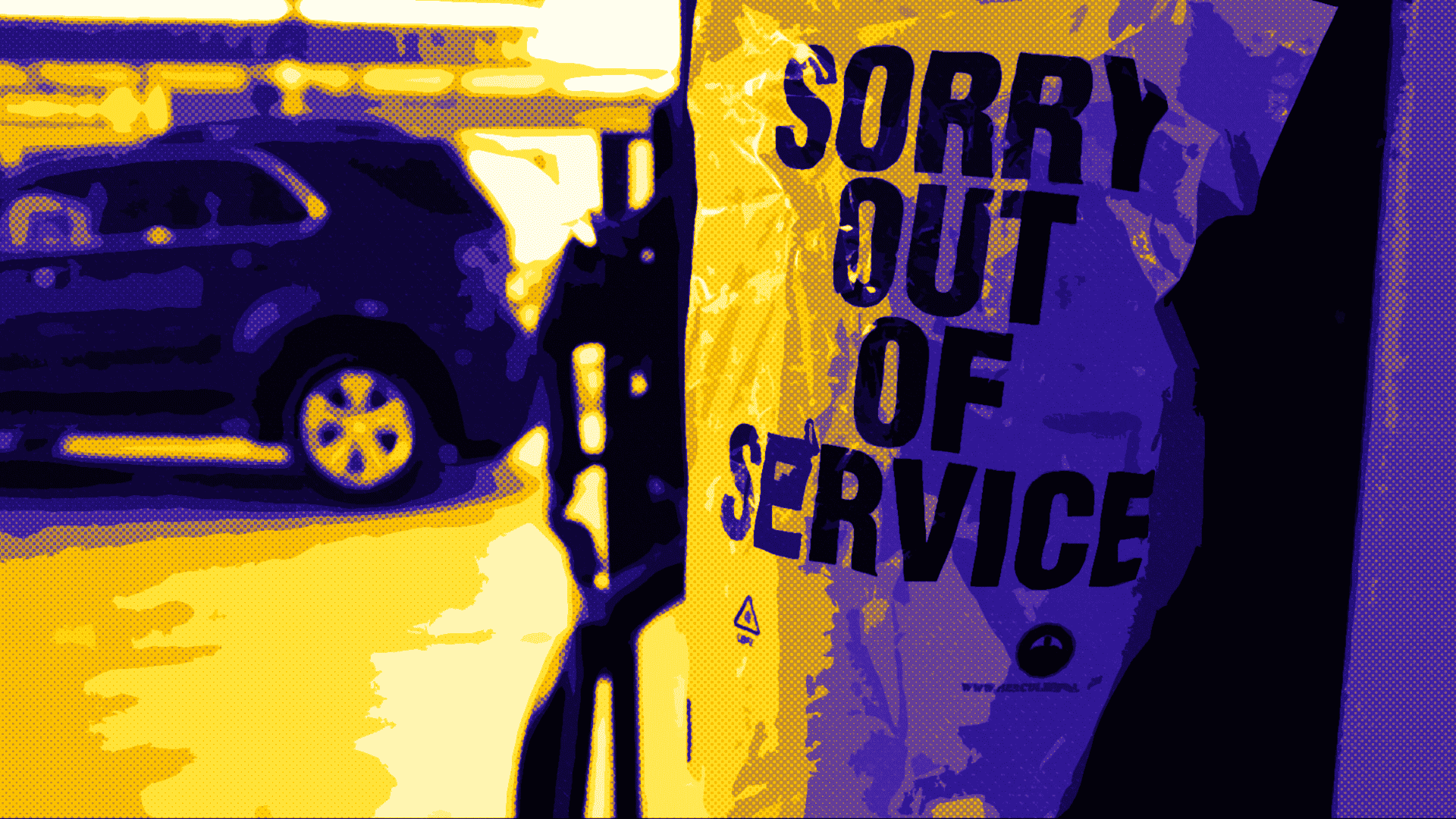 Out of service gas pump.