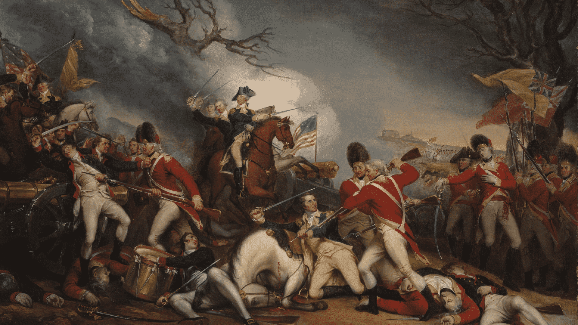 The Death of General Mercer at the Battle of Princeton.