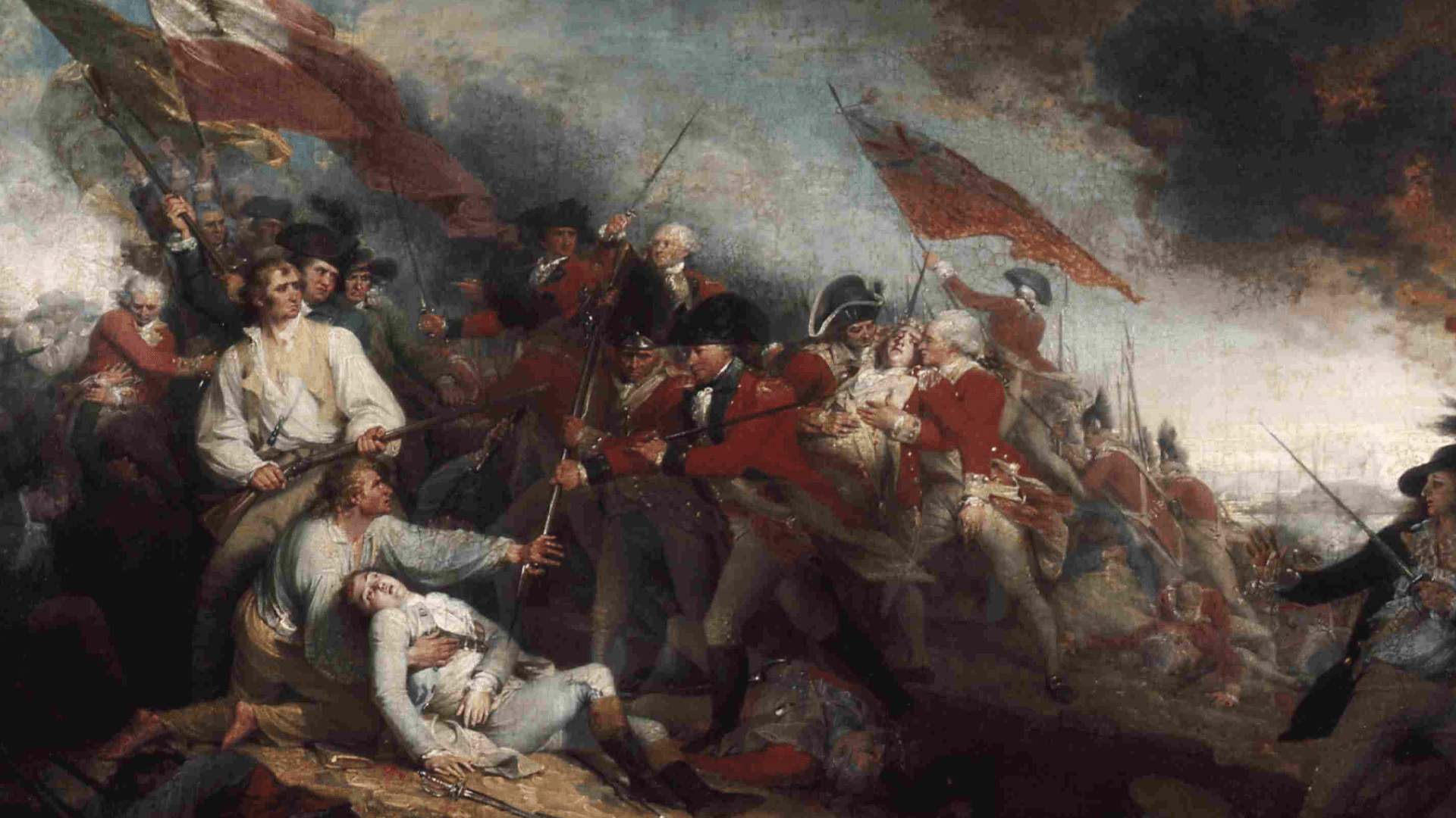 The Death of General Warren at the Battle of Bunker Hill.