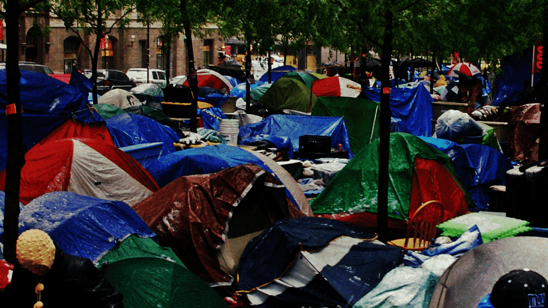 Zucotti Park, New York: Occupy Wall Street protests.